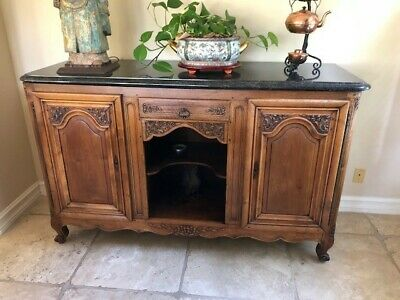Antique French Country Louis XV Buffet Sideboard Server