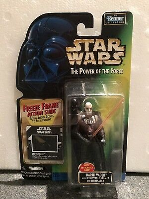 Star Wars Power of the Force Freeze Frame Darth Vader w/ Removable Helmet.