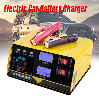 12V/24V 260W Car Battery Charger Automatic Intelligent Pulse Repair EU Plug NEW