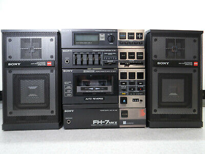 SONY FH-7 MKII Portable Stereo Boombox Complete  AS IS .. READ
