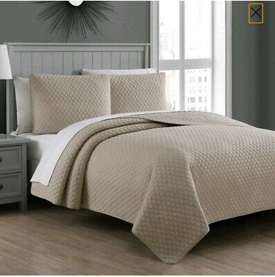 Fenwick Quilt Set by Estate Collection King Taupe