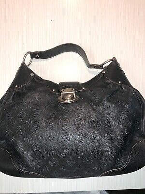 AUTHENTIC Louis Vuitton Black Mahina Hobo