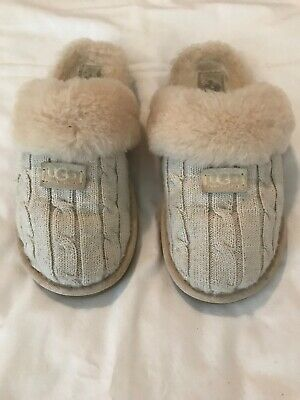 b252bb4c9bd UGG COZY KNIT Slipper Charcoal Cream #1095116 NIB SIZE 10 Only! Last ...