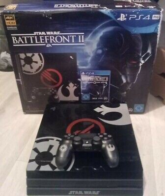 Sony PlayStation 4 PS4 Pro 1TB Battlefront 2 II Limited Edition (Boxed)