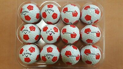 12 Used AAAAA/MINT Condition Callaway Chrome Soft X Truvis Red Golf Balls