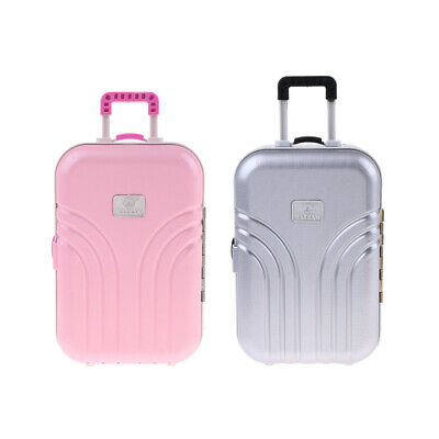 2Pieces Miniature Suitcase Travel Bag for 1/6 Bryce Diorama Jenny Licca Doll