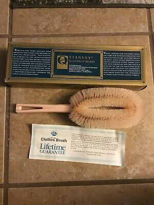 Vintage Stanley HOME PRODUCTS 60th Anniversary Life Time Guarantee Clothes Brush