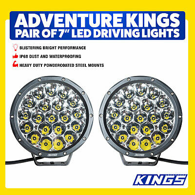 7inch Driving Kings Lights LED Pair Slimline Pair New Strong Bright 4WD Outdoor