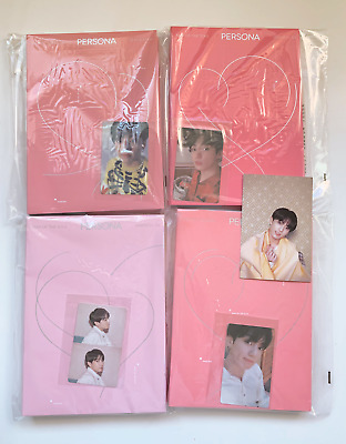 BTS Official Map of the Soul: Persona 1 / 2 / 3 / 4 JUNGKOOK Photocard Full Set
