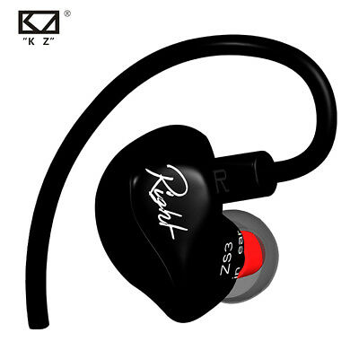 KZ ZS3 Ergonomic Detachable Cable Earphone HIFI Monitor Headphone Headset Earbud