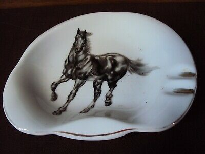 Vintage Black Beauty Horse Ashtray
