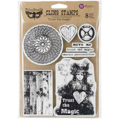 """Finnabair Cling Stamps 6""""X7.5""""-Trust The Magic"""