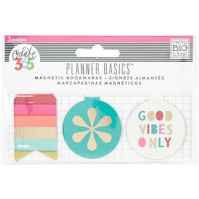 Create 365 Happy Planner Magnetic Clips-Bright, 3/Pkg