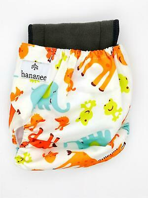 Hananee Baby Cloth Diapers with Bamboo Charcoal Insert All-In-One Nappy Giraffe