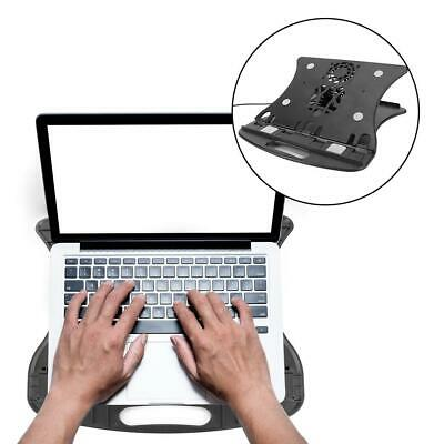 Home Portable Laptop Holder Cooling Stand Mount Notebook Tray with Cooling Fan