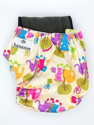 Hananee Baby Cloth Diapers with Bamboo Charcoal Insert All-In-One Nappy Elephant