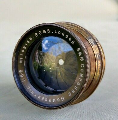Vintage Brass Ross 8½ inch 1:6.8 Compound Homocentric Camera Lens