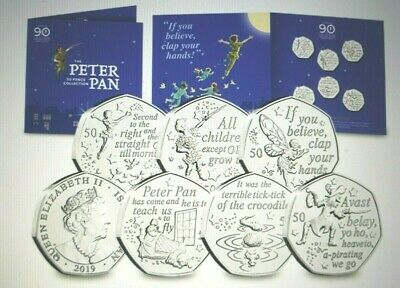 Peter Pan 2019 50p Six Coin Set-Great Ormond Street BUNC Charity Release