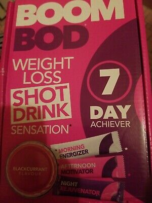 BOOMBOD - Weight Loss 7 Day Achiever. 21 Sachets/Clinically Proven Blackcurrant