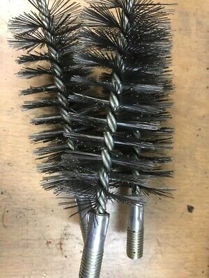 50mm Stainless Steel Round Wire Tube Pipe Cleaning Brush Rotary Tool 1Pc