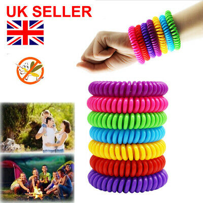 Mosquito Repellent Bracelet Anti Insect DEET Free Wrist Band Bug Repeller 10Pack