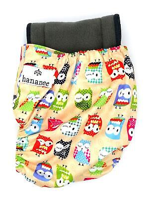 Hananee Baby Cloth Diapers with Bamboo Charcoal Insert All-In-One Nappy Owl