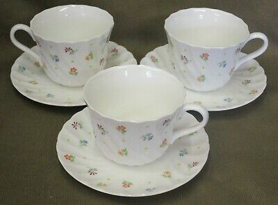 3 x Wedgwood Cascade English Bone China Cups & Saucers - more available