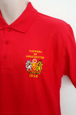 Manchester United Flowers Of Manchester Polo Shirt(Red)