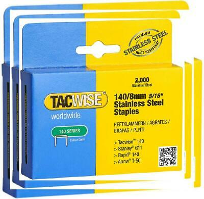 Tacwise 140/8mm Stainless Steel Staples (Box of 2000) 16 inches