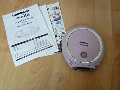 GOODMANS PINK Portable Personal CD Player Discman Walkman GCD529P PASTELLE