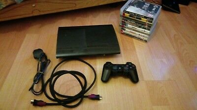 PlayStation 3 PS3 Super Slim Console 160GB Full Set Up Bundle with 10 Games