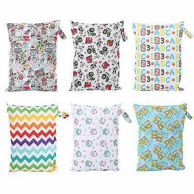 Durable Waterproof Zip Wet Dry Bag Baby Infant Cloth Diaper Nappy Pouch Reusable