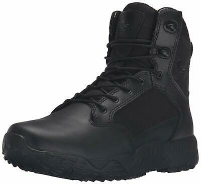 Under Armour Men's Stellar Military and Tactical Boot, Black/Black, Size 10.5