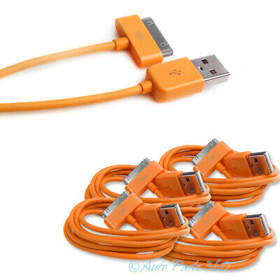 4X 6Ft Usb 30Pin Orange Cable Data Sync Charger Samsung Galaxy Tab 7.0 8.9 10.1