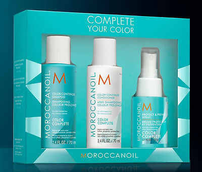 Moroccanoil Hair Complete Your Color Set Kit Shampoo - Conditioner - Spray Promo