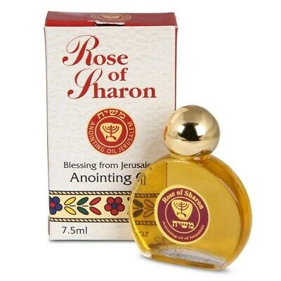 Rose of Sharon Anointing Oil 7.5 ml Biblical Perfume From Holyland Bible 0.25 Oz