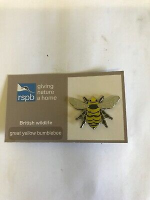Rspb Great Yellow Bumblebee Pin Badge