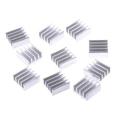 10pcs 11*11*5mm Aluminum radiator heaqwink electronic chip cooling bloc qw