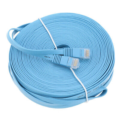 30m/98.42ft Cat6 Ethernet Flat Cable RJ45 LAN Internet Network Cord for PC R3Q7