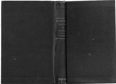 Rare Antique Book: Railway Rates: English and Foreign by J. Grierson 1886, Good