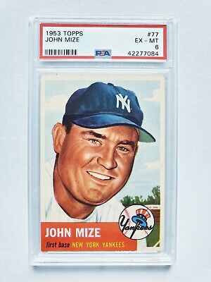 1953 Topps John Mize PSA 6 (Well centered)