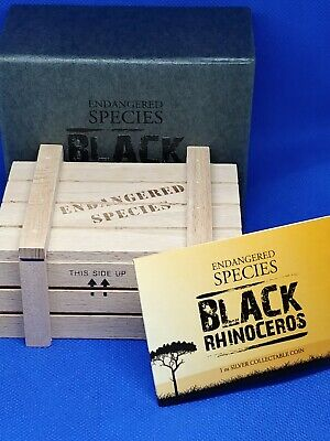 New Zealand Mint Endangered Species OGP Wooden Crate 1 Oz Case No Coin Included