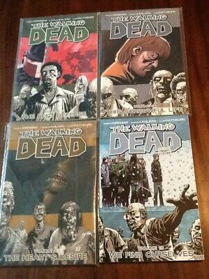 The Walking Dead Graphic Novels Volumes 4, 5, 6,15 Excellent Condition As Unread