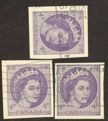 Stamps Canada # UX 88, 4¢, 1954, lot of 3 used stamps.