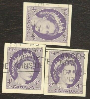 Stamps Canada # UX 90, 4¢, 1953, lot of 3 used stamps.