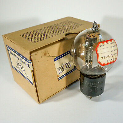 WESTERN ELECTRIC 205-D very strong audio tube ENGRAVED BASE  - ORIGINAL BOX