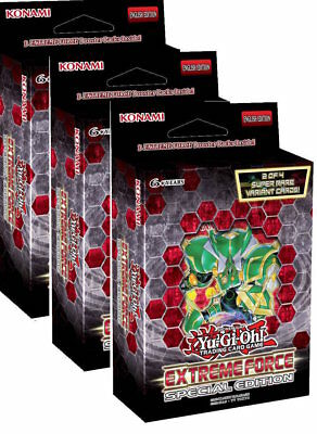 Extreme Force Special Edition DECK -Yu-Gi-Oh, NEW AND Sealed X 3 DECKS