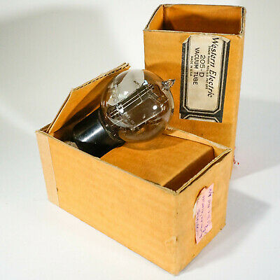WESTERN ELECTRIC 205-D strong audio tube ETCHED GLASS -  ORIGINAL BOX