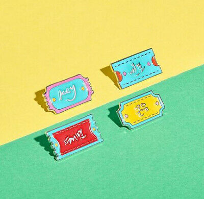 Shinee Smtown Ddp Official Goods Diy Artist Autograph Name Pin Badge Sealed