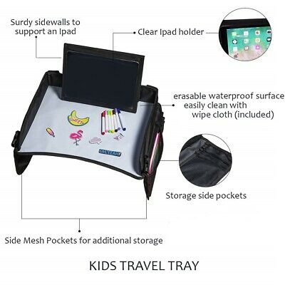 Kaztro Kids Travel Tray, Snack & Play, Dry Erase Desk with Markers, iPad Holder